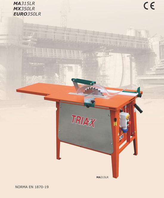 Sega circolare per legno triax italia for Slitta per sega da banco